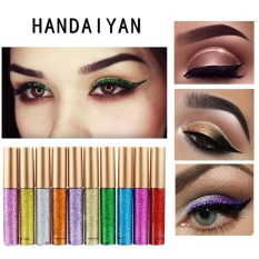 Brand 10 Colors Bright Flashing Eye Liner Quick To Dry Waterproof Glitter Eyeshadow Liquid Eyeliner Beauty Makeup 08 color - intl Philippines