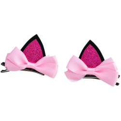 Buytra Baby Girls Hair Clip Cat Ears 2Pcs Pink