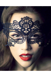 Buytra Eye Mask Lace Venetian Masquerade Ball (Black)