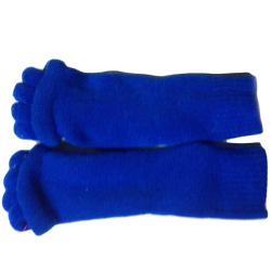 Buytra Five Toe Separator Socks Foot Alignment Pain Relief (Blue)