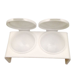 Buytra Nail Art Double Dappen Dish Case (White)