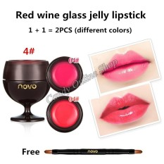 Candy Online Korea NOVO 2PCS Red Wine Jelly Lipstick with Brush #5144 Philippines