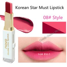 Candy Online Korea NOVO 5095 Double Color Gradient Lipstick Makeup #8 Philippines