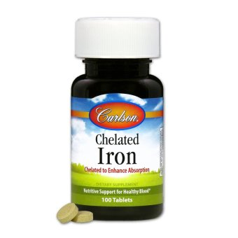 Carlson Chelated Iron Bottle of 100 Tablets