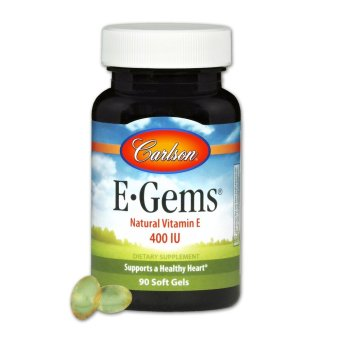 Carlson E-Gems 400IU Natural Vitamin E Bottle of 60 Soft Gels