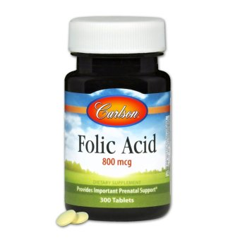 Carlson Folic Acid 800mcg Bottle of 300 Tablets