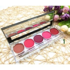 CC 24 Hours 5 Colors Long Lasting Waterproof Matte Lip Gloss Makeup Palette #01 79g Philippines