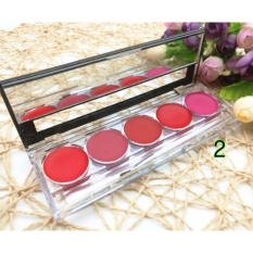 CC 24 Hours 5 Colors Long Lasting Waterproof Matte Lip Gloss Makeup Palette #02 79g Philippines
