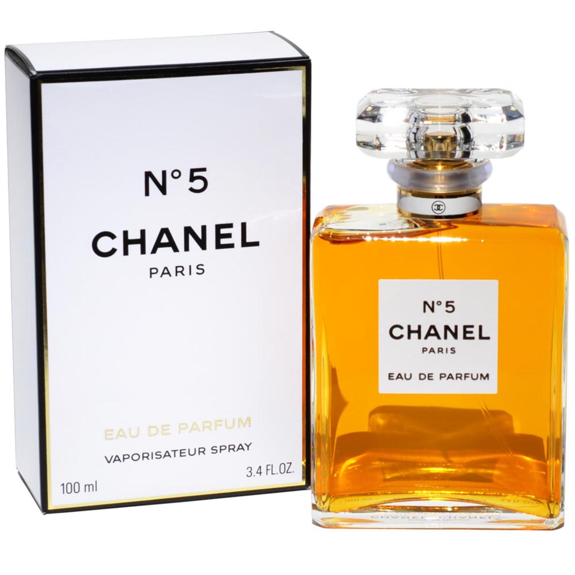 Chanel No. 5 Eau De Parfum for Women 100ml with Rosegold Earring