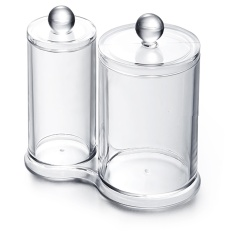 Circular Clear Acrylic Cotton Ball Cotton Swabs Holder Makeup Organizer - intl Philippines