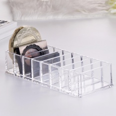 Clear Acrylic Lipstick Holder Display Stand Cosmetic Storage Rack Organizer Pressed powder eyeshadow box Case Box Container - intl Philippines