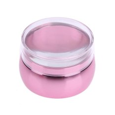 Clear Silicone Head Metal Nail Art Stamper Scraper Set with Cap(Pink) - intl Philippines