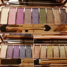 Cyber 9 colors Waterproof Makeup Eyeshadow Glitter Palette with Brush ( Multicolor ) - intl Philippines