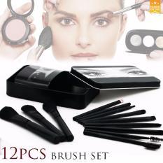D&D 12 Pcs Professional Make Up Brushes Set (Black) Philippines