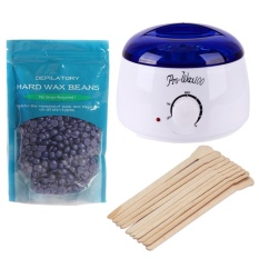 Depilatory Melting Wax Machine+10pcs Stick+100g Neutral Rose Wax  Beans(White)-EU - intl