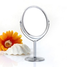 Desk Stand Portable Cosmetic Makeup Mirror Double-Sided Magnifying Mirror - intl Philippines