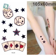 Dice & Cards - TATTOO ART Temporary Tattoo 10x15 cm RC-281 Philippines