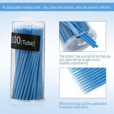 Disposable 100PCS/Box Extension Mascara Brush Eyelash Glue Cleaning Stick Pink Small - intl Philippines
