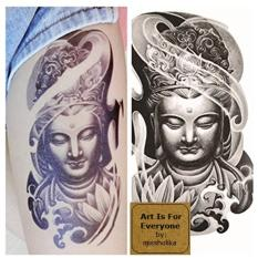 Duddah - Art Is For Everyone! by:missholika Premium Quality 3D Temporary Tattoos LC-827 Philippines