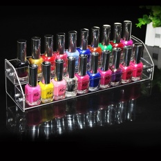 Durable Nail Polish Acrylic Clear Makeup Display Stand Rack Organizer Two Layers - intl Philippines