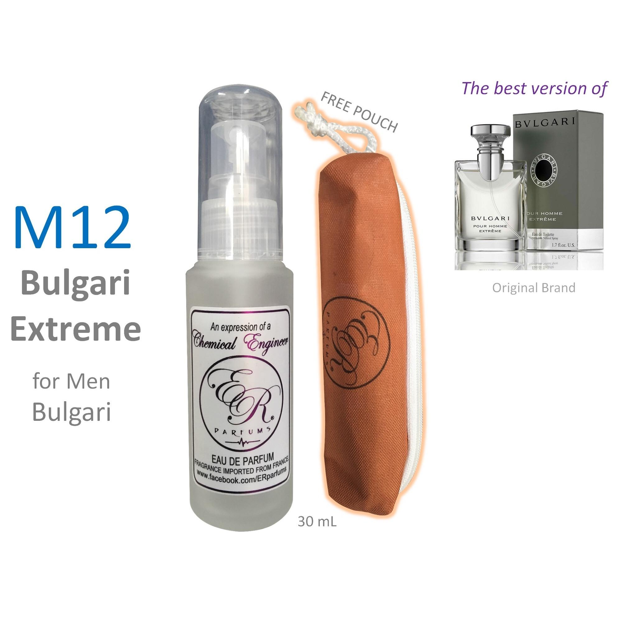 ER PARFUMS M12 Bulgari Extreme for Men by Bulgari 1 piece 30 mL perfume with free pouch (Best Seller) - thumbnail