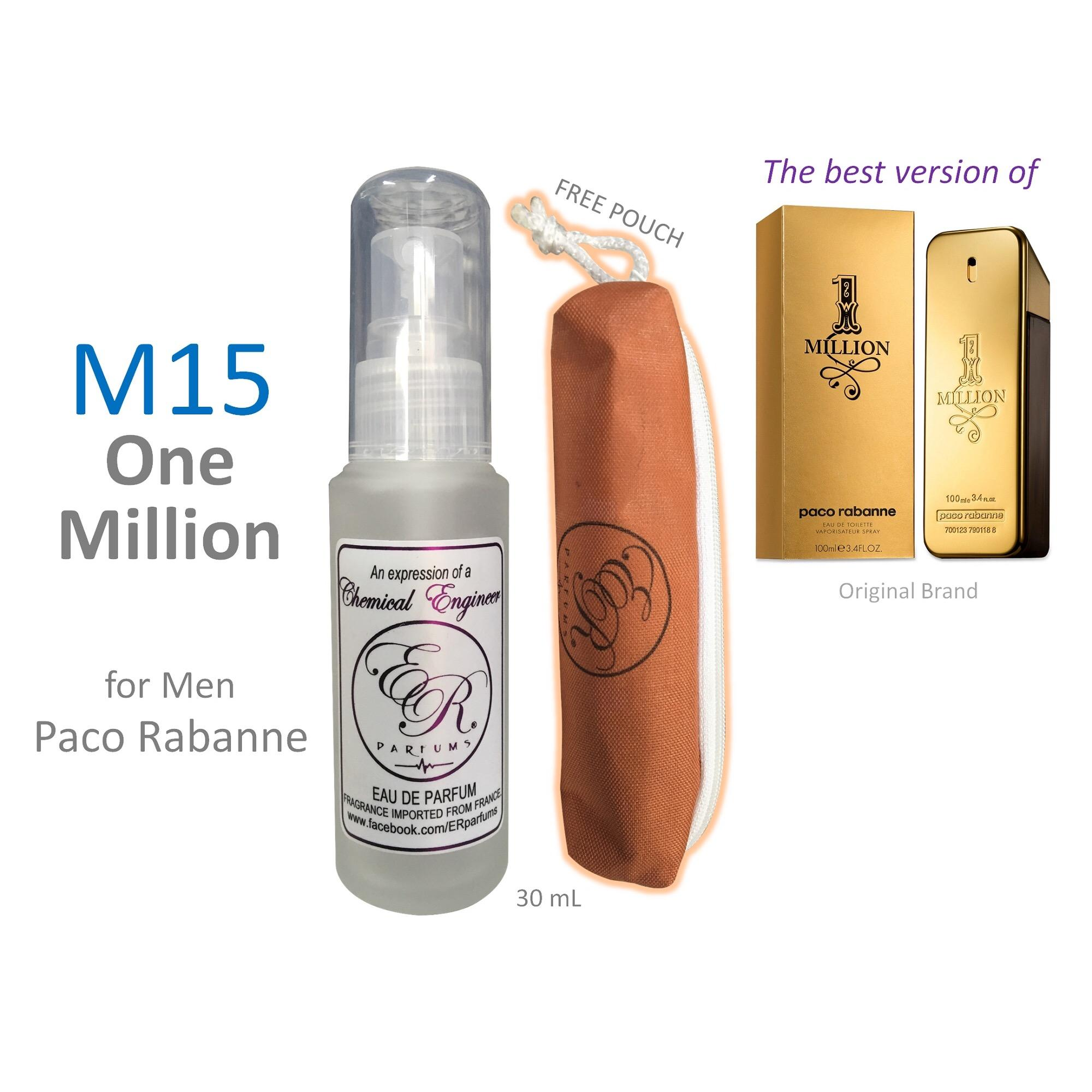 ER PARFUMS M15 One Million for Men by Paco Rabanne 1 piece 30 mL perfume with free pouch (Best Seller) - thumbnail