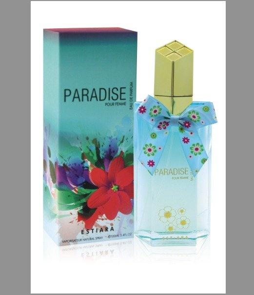 Estiara Paradise Eau De Parfum 100ml with Free Vial Travel Size 10ml Eau De Parfum