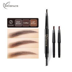 Eyebrow Pencil Durable Automatic Eyebrow Eye Liner With Brush Cosmetic Makeup Tools Long Lasting Waterproof Beauty - intl Philippines
