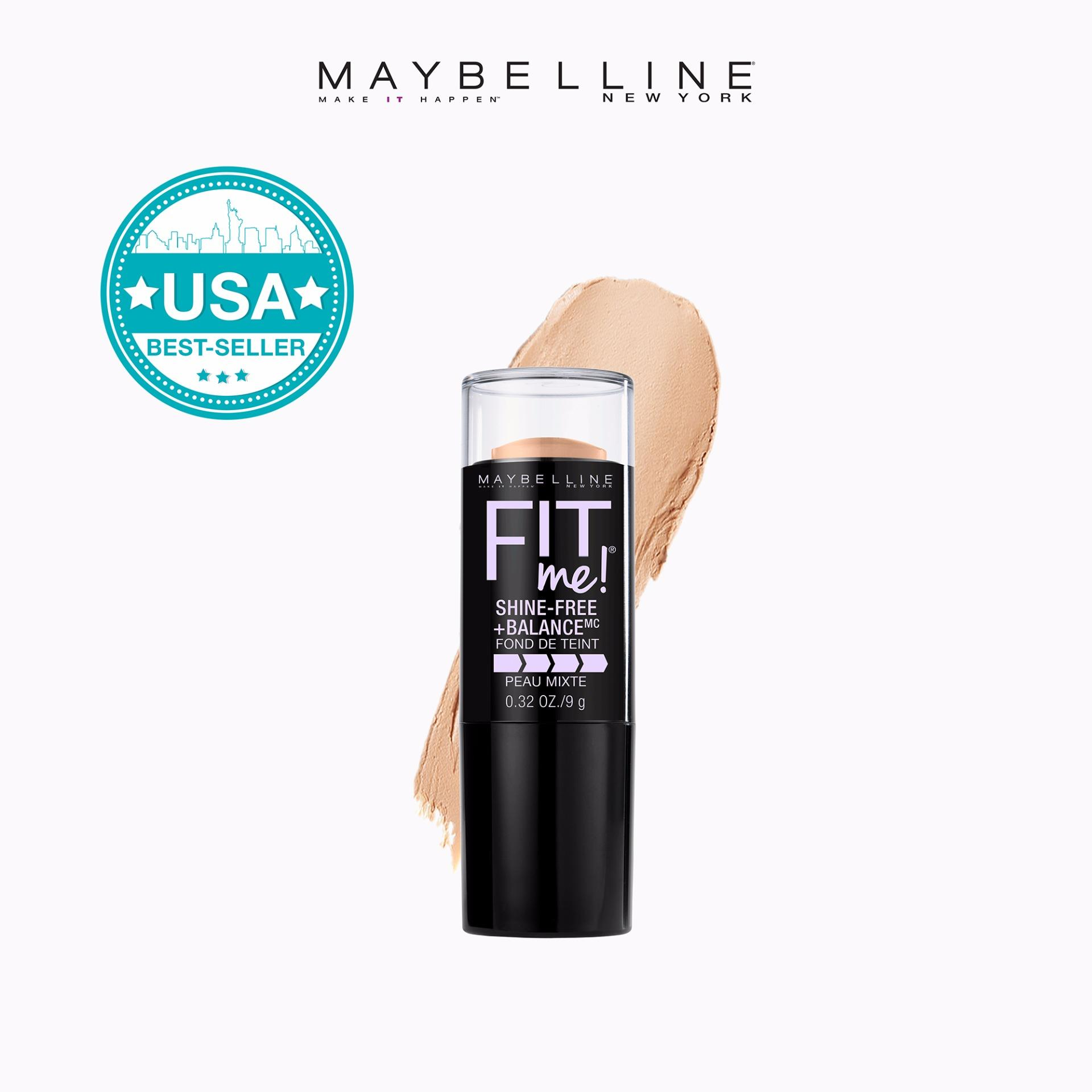 Fit Me Shine-Free Matte Foundation Stick - 120 Classic Ivory [USA Bestseller] by Maybelline Philippines