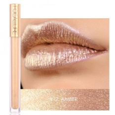 FOCALLURE Heavy Metallic Liquid Lipstick Glitter Metal Lip Gloss Waterproof Matte Lipstick #12 - intl Philippines