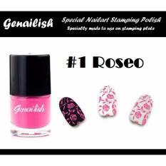 Genailish Nail Lacquer Vernis A Ongles  (Special Nail Art Stamping Polish) 1# (Roseo) Philippines