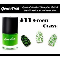 Genailish Nail Lacquer Vernis A Ongles  (Special Nail Art Stamping Polish) 11# (Green Grass) Philippines