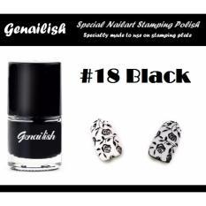 Genailish Nail Lacquer Vernis A Ongles  (Special Nail Art Stamping Polish) 18# (Black) Philippines