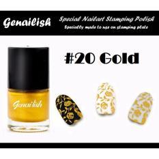 Genailish Nail Lacquer Vernis A Ongles  (Special Nail Art Stamping Polish) 20# (Gold) Philippines