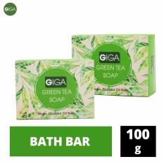 Giga Natural's Spa Green Tea Soap 100g Set of 2