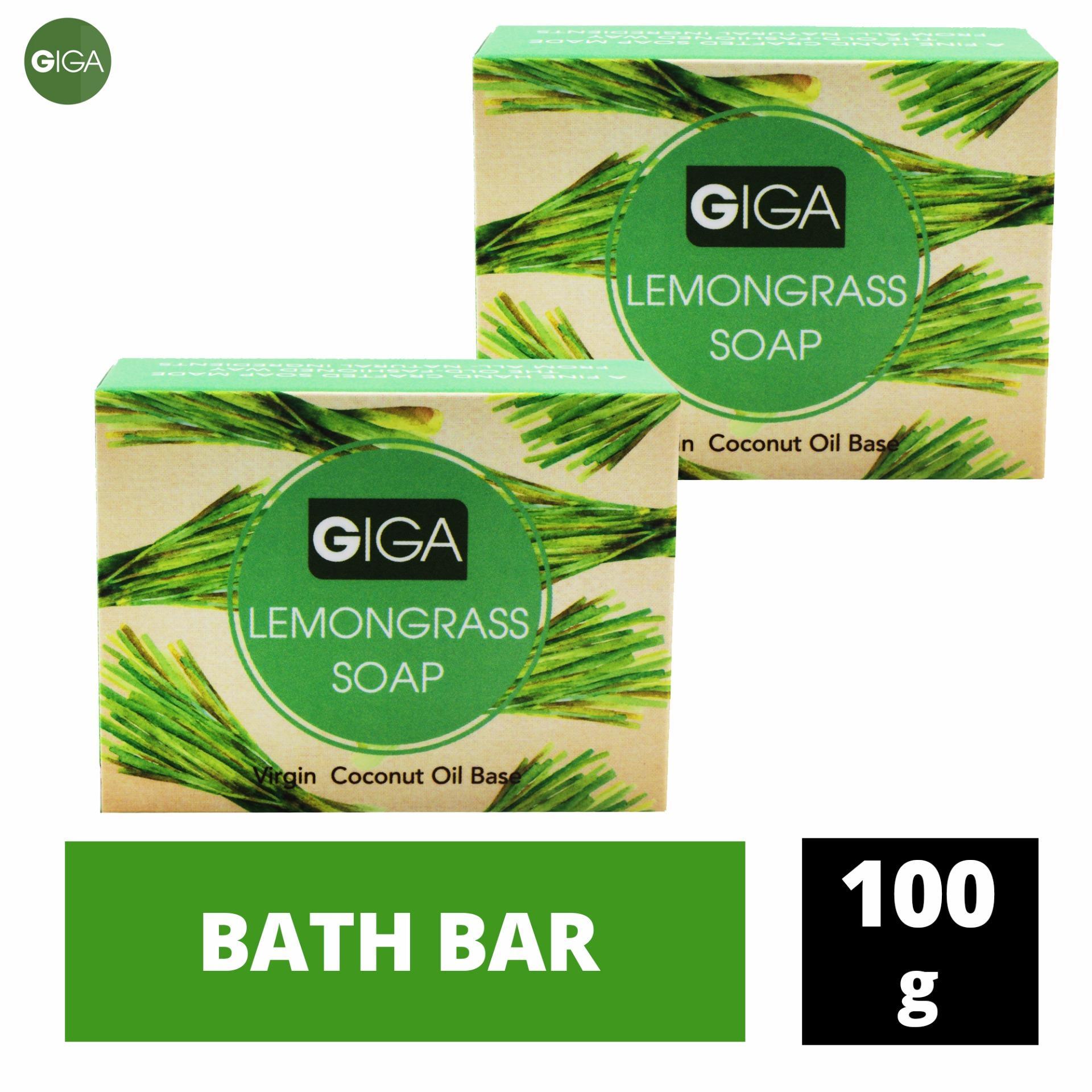 Giga Natural's Spa Lemongrass Soap 100g Set of 2