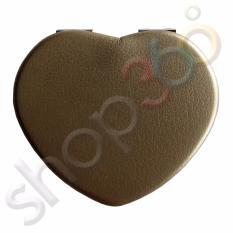 GLAM360 Pocket Mirrors Heart 6.5x6.5cm Matte Brown Philippines