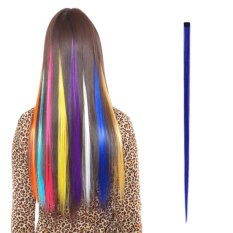 Hair Extensions Fashion Women's Long Synthetic Clip Gradient Color Cosplay Hair Pieces - intl