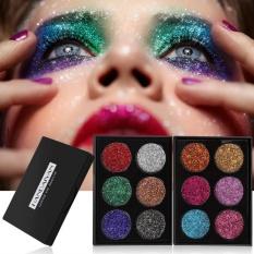 HANDAIYAN Diamond Golden Color Glitter Eye Shiny Shadow Palette Eye Make Up # B - intl Philippines