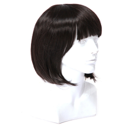 Hang-Qiao Girls Synthetic Short Wigs (Black)