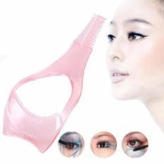 Hassle Free Mascara Eyelash Brush Curler Lash Eyebrow Comb Cosmetic Mascara Applicator (Pink) Philippines