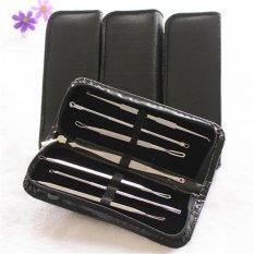 High Quality 7Pcs Blackhead Acne Pimple Blemish Extractor Remover Needle Clipper Tweezers Earpick Beauty Tool Kit Set - intl Philippines