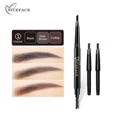 High Quality Eyebrow Pencil Waterproof Automatically Rotating Makeup Eyebrow Pencil Double Ended With Eyebrow Brush - intl Philippines