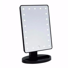 Illuminated Desktop Table Make Up Mirror with LED (Black) Philippines