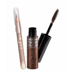IN2IT NATURAL BROW WATERPROOF EYEBROW MASCARA W/ FREE EYELINER 08-NBMP01 (DEEP BROWN / MISTY BROWN ) Philippines