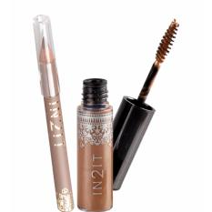 IN2IT NATURAL BROW WATERPROOF EYEBROW MASCARA W/ FREE EYELINER 08-NBMP03 (SOFT BROWN / MISTY BROWN ) Philippines
