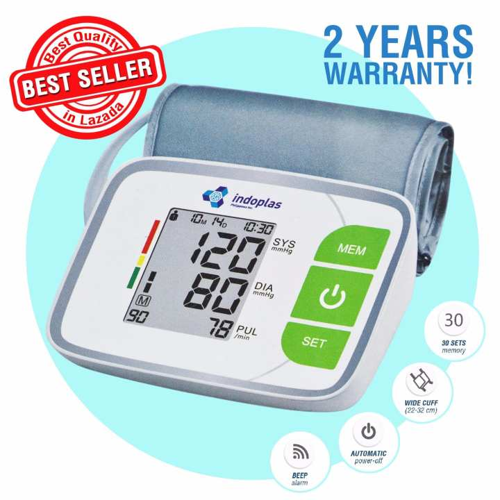 Indoplas Arm Type Full Automatic BP Blood Pressure Monitor