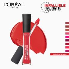 Infallible Pro-Matte Gloss Liquid Lipstick - Shanghai Scarlet 308 [#NeverFail] by LOréal Paris Philippines