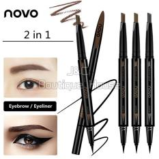 J&C Korea NOVO 2 In 1 Waterproof Eyebrow + Eyeliner Pencil #5145 Philippines