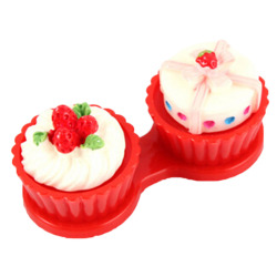 Jetting Buy Cartoon Cake Cream Contact Lens Case Box Red
